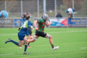 Stuart MacDonald in action for Highland Rugby Club.