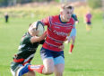 Murray Mitchell scores a try. Picture by Kath Flannery