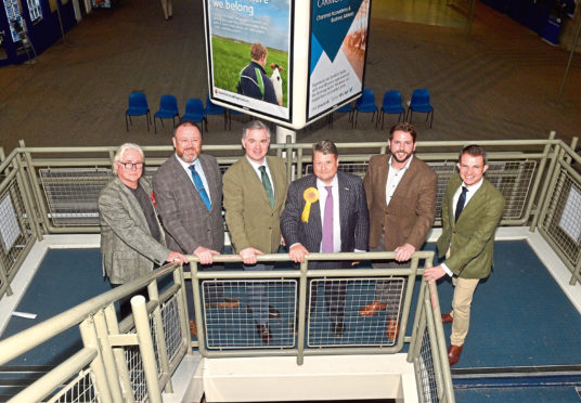 Pictured are from left, Brian Balcombe (Labour), David Duguid (Conservative), Colin Clark (Conservative), James Oates (Lib Dem), Fergus Mutch (SNP) and Andrew Bowie (Conservative).