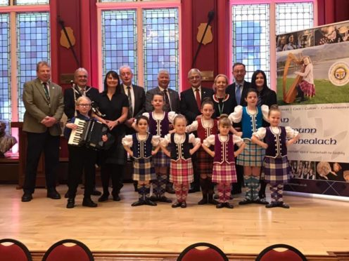 A civic reception was held at Inverness Town House to welcome the return of the Royal National Mòd. Picture taken by James Graham.