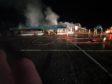 Fire at the ski resort. Picture credit: Glencoe Mountain Resort