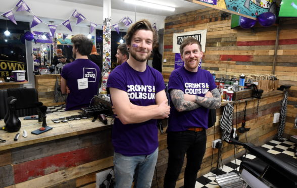 Mark Reilly, left and Roo Mackinnon of Hometown Barbers. Picture by Jim Irvine