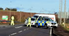 The scene on the A92