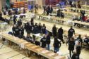 The election count is underway in Inverness.
