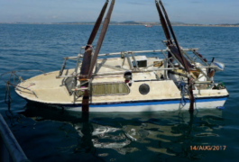 The James 2 being recovered