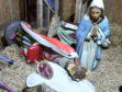 The nativity scene was vandalised. Picture by Chris Sumner.