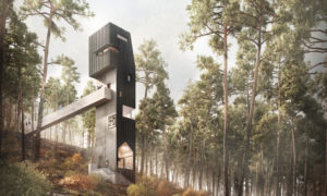 Artist impression of the new tower at Inverewe Gardens.
