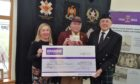 John with Karen McAulay and Dougie McDonald from Heilan Shed