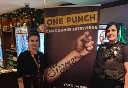 Police have been promoting their One Punch campaign in Moray