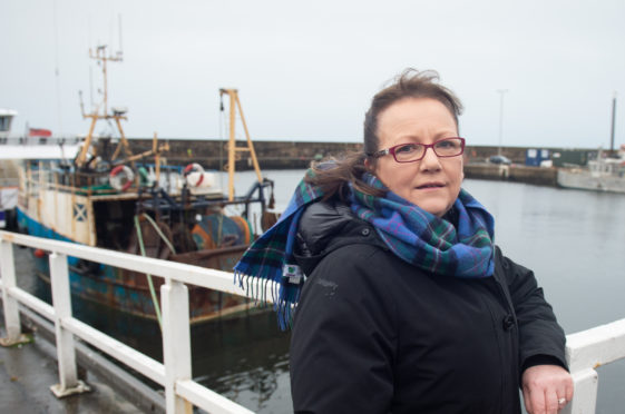 Councillor Sonya Warren is pictured at Buckie Harbour. Picture by Jason Hedges.