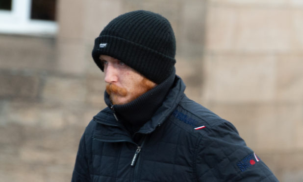 Andrew Donaghie pictured leaving Elgin Sheriff Court.