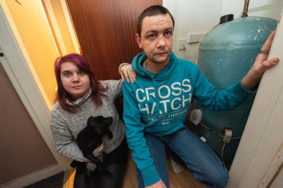 Stuart and Jewelz Wilson fear their boiler could break down over Christmas.