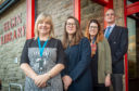 Pictures by JASON HEDGES     Pam Dudek launches Health & Social Care Moray's Strategic Plan 2019 – 2029.  Picture: L2R - Pam Dudek (Chief Officer, Health and Social Care, Moray), Tara French (Programme Director for Health & Wellbeing, Glasgow School of Art), Yoni Lefevre (Design Researcher),  Johnathon Passmore (Chair, Moray Integration Joint Board)   Pictures by JASON HEDGES