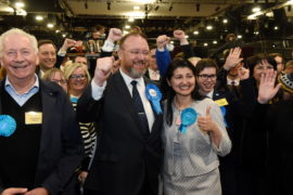 David  Duguid, Scottish Conservative and Unionist candidate with wife Rose. Picture by Kenny Elrick