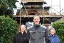 From left:  Morag Lightning, Fraser Watson and Annette Stephen  from 'Friends of Turriff Cemetery.   Picture by Paul Glendell