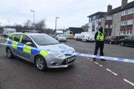 Police on the scene at Ruthrieston Crescent.
