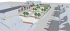 Artist impression showing a revamp on Inverurie's town centre.