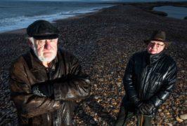 James Mackie, secretary of the community council (left) and David Mackay local resident and Kingston flood adviser at Kingston beach