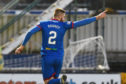 INVERNESS, SCOTLAND - DECEMBER 21: Inverness' Shaun Rooney celebrates opening the scoring during a Ladbrokes Championship match between Inverness Caledonian Thistle and Dunfermline Athletic, at the Tulloch Caledonian Stadium, on December 21, 2019, in Inverness, Scotland. (Photo by Ross MacDonald / SNS Group)