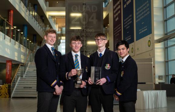 Alistair Finch, Patrick Ashdown, Douglas Fraser and Sean Alger from Robert Gordon's College won Stem in the Pipeline 2019.