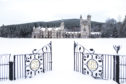 Balmoral Castle, Royal Deeside, in the snow.