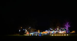 The Christmas Lights display in Seafield.