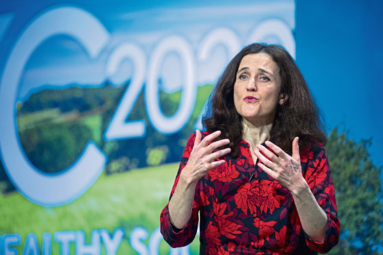 Theresa Villiers at the Oxford Farming Conference earlier this week.