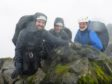 Paul, Matt, and father David Choat at the summit of  Sgùrr a' Mhadaidh.