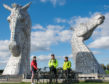 Charlene Macleod, Graeme Finnie and Iona Maclennan navigated the 240-mile journey in three days, taking in sights such as the Kelpies