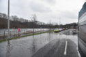 Riverside Drive in Aberdeen yesterday. Picture by Darrell Benns