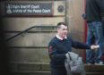 Liam Forsyth leaving Elgin Sheriff Court.