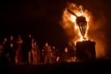 The traditional Burning of the Clavie event at Burghead in Moray. Pic by Kenny Elrick.
