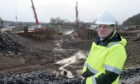 Colin Howell, Head of Infrastructure with Highland Council at the drained canal. Picture by Sandy McCook