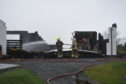The fire service attend the scene of a B&B fire near Borreraig, Isle of Skye. Picture by Sandy McCook