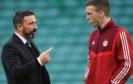 Dons manager Derek McInnes and Lewis Ferguson