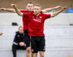 Dylan McGeouch in training with Aberdeen.