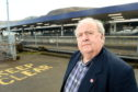 Picture by SANDY McCOOK  9th January '20. Disgruntled Caledonian Sleeper customer Stuart Jarvis photographed at Fort William Railway Station following his problematic journey north.