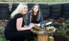 In the picture at Aucheoch Cottage, Brucklay, near Maud are Claire Morrice, left and Wendy Shaw.  Picture by Jim Irvine