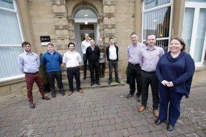 A group of some of the new recruits outside Osbit's offices in Riding Mill