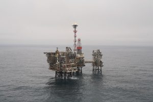 Bruce platform in the North Sea